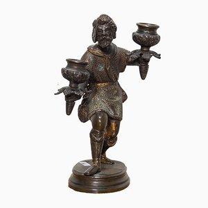 Candelero de bronce, siglo XIX