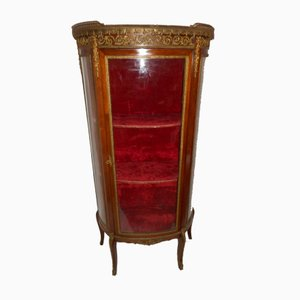 Antique Mahogany & Gilt Bronze Showcase