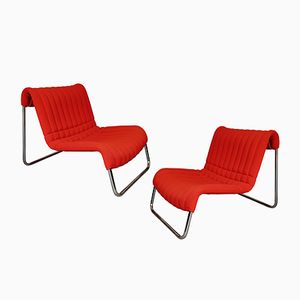 Model Due Cavalli Armchairs by De Pas, D'Urbino & Lomazzi for Driade, 1969, Set of 2