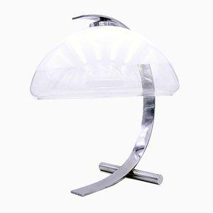 Vintage Chrome & Murano Glass Desk Lamp