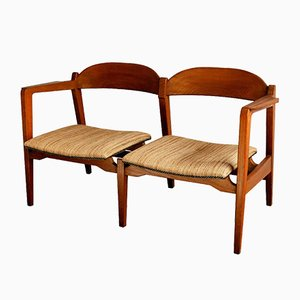 Scandinavian Panga Panga Wood 2-Seater Sofa, 1955