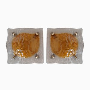 Murano Wall Sconces, 1960s, Set of 2