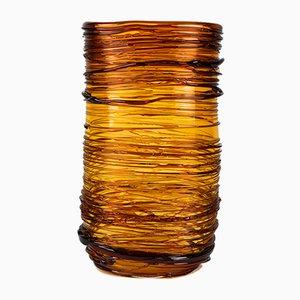 Vase en Verre de Murano Soufflé Ambre de Made Murano Glass, 2019