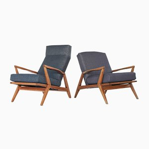 Mid-Century Modern Sculptural Lounge Chairs, Set of 2