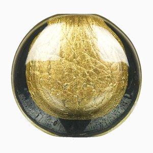 Vaso in vetro di Murano dorato di Alberto Donà per Made Murano Glass, 2019