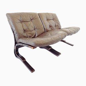Kengu 2-Seater by Elsa & Nordahl Solheim for Rybo Rykken, 1970s