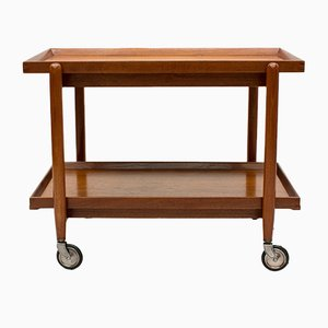 Danish Teak Bar Cart by Poul Hundevad, 1960s