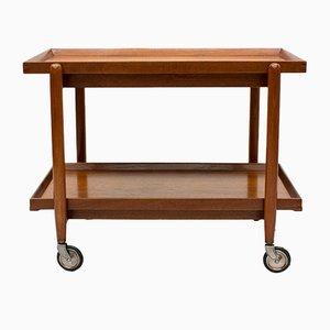 Danish Teak Bar Cart by Poul Hundevad, 1960s
