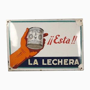 Spanisches La Lechera Schild, 1920er