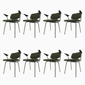 Vintage Armchairs by Friso Kramer for Ahrend de Cirkel, Set of 8
