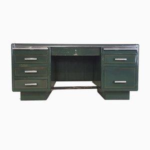 Industrieller Vintage Art Deco Partner Schreibtisch von Milners
