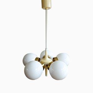 Lampada da soffitto Sputnik vintage di Elektroinstala, Cecoslovacchia, anni '60