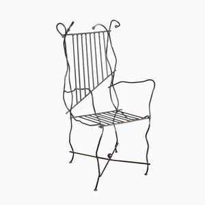 Chaise d'Appoint Vintage en Métal, Italie