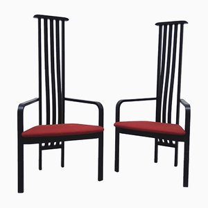 Armchairs by Vico Magistretti for Poggi, 1980s, Set of 2