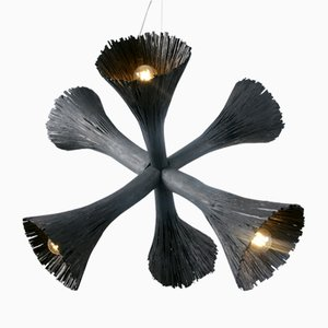 Pressed Wood Chandelier by Johannes Hemann