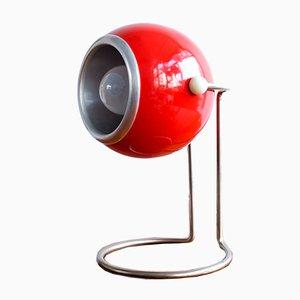 Lámpara de mesa Eyeball italiana vintage, años 60
