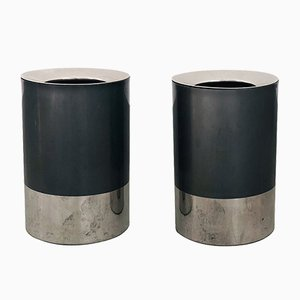 Waste Paper Bins with Ashtrays by Luigi Caccia Dominioni for Azucena, 1970s, Set of 2