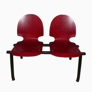 Industrielle Vintage 2-Sitzer Wartebank aus Wartezimmer