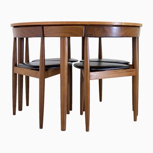 Mid-Century Teak Dining Table & 6 Dining Chairs by Hans Olsen for Frem Rojle