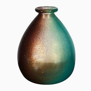 Vaso in foglia d'oro di Archimede Seguso, 1953
