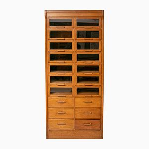 Oak Haberdashery Cabinet from Dudley & Co, 1940s