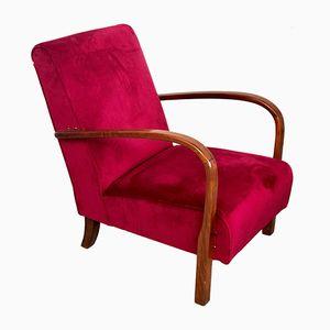 Art Deco Sessel aus Holz, 1940er
