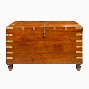 Large 19th Century Indian Teak Chest