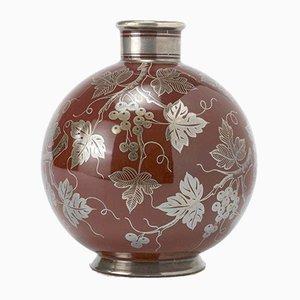 Vintage Majolica 40S9E Vase von Gio Ponti & Arrigo Finzi für Richard Ginori