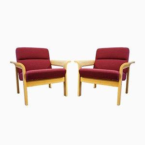 Skandinavische Sessel von Thygesen & Sørensen für Magnus Olesen, 1990er, 2er Set
