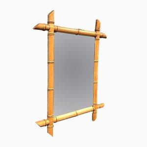 Spiegel mit Rahmen in Bambus-Optik, 1900er