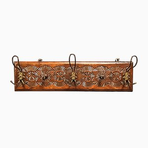 Antique Dutch Folk Art Coat Rack, 1900s