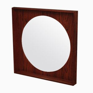 Rosewood Wall Mirror from Pedersen & Hansen, 1960s