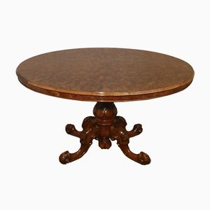 English Victorian Walnut Dining Table, 1860s