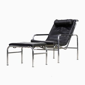 Genie Lounge Chair and Ottoman Set by Gabriele Mucchi for Zanotta, 1980s