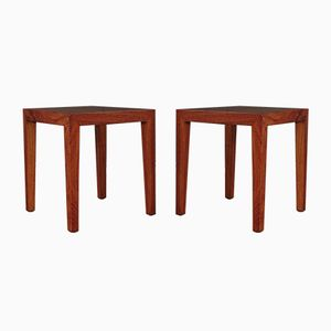 Brazilian Rosewood Side Tables by Severin Hansen for Haslev Møbelsnedkeri, 1960s, Set of 2
