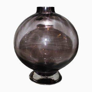 Kugelförmige Mid-Century Glasvase