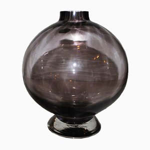 Mid-Century Spherical Glass Vase