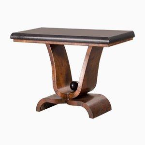 Table Console Style Art Déco en Noyer, 1950s