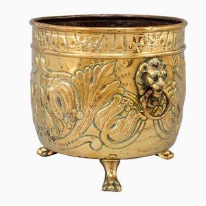 Vaso da fiori antico in ottone, Francia