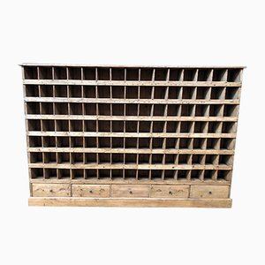 Large Vintage Craft Shelving Unit with 105 Shelves, 1930s