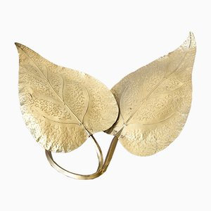 Brass Leaves Table Lamp by Tommaso Barbi, 1970s