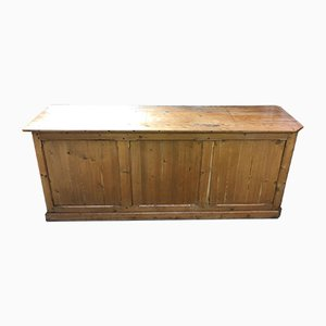 Vintage Fir Shop Counter, 1930s