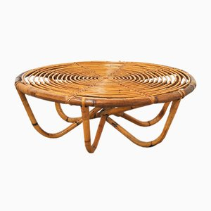 Mid-Century Wicker Coffee Table, 1960s