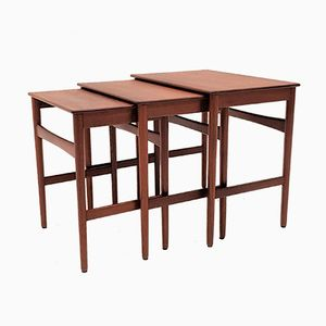 Teak AT40 Nesting Tables by Hans J. Wegner for Andreas Tuck, 1960s