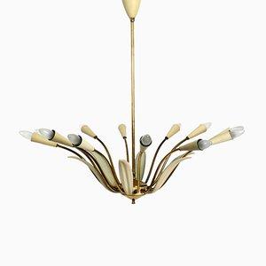 Large Mid-Century Modern Brass Sputnik Lamp