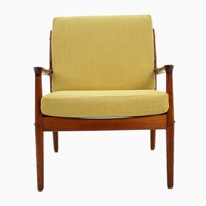 Armlehnstuhl aus Teak von Arne Vodder für Glostrup, 1960er