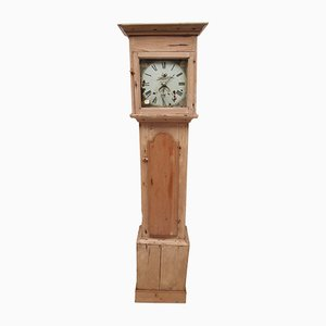 Reloj victoriano antiguo de pino