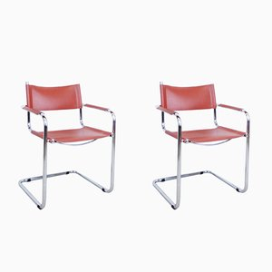 Cantilever Armchairs by Mart Stam, 1980s, Set of 2