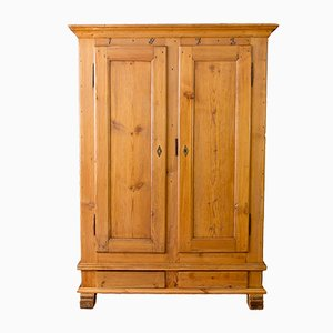 19th Century Baltic Pine Wardrobe, 1873