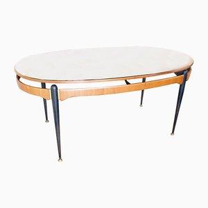 Italienischer Esstisch mit Tischplatte in Sonnen-Optik, 1950er